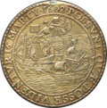 Betts Medals, Betts-21. 1602 Rivalry of Holland and Spain. Silver, cast, gilt.VF, once mounted....