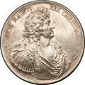 Betts Medals, Betts-53. 1677 Victory at Tobago, Silver. XF....