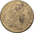 Betts Medals, Betts-57. 1677 Victory at Tobago Jeton. Brass. Fine....