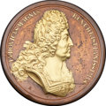 Betts Medals, Betts-Unlisted. 1697 Victory the Companion of the French. Bronze,damascene. XF....