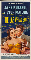 "Movie Posters:Drama, The Las Vegas Story (RKO, 1952). Three Sheet (41"" X 81""). Drama....."