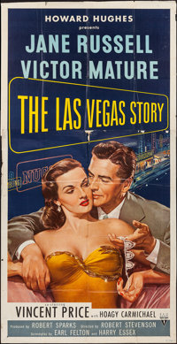"The Las Vegas Story (RKO, 1952). Three Sheet (41"" X 81""). Drama"