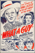 "Movie Posters:Black Films, What a Guy (Toddy Pictures, 1947). One Sheet (27"" X 40.5""). BlackFilms.. ..."
