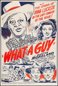"""What a Guy (Toddy Pictures, 1947). One Sheet (27"""" X 40.5""""). Black Films"""