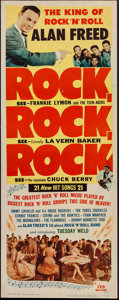 """Movie Posters:Rock and Roll, Rock, Rock, Rock (DCA, 1956). Insert (14"""" X 36""""). Rock and Roll.. ..."""