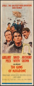 "Movie Posters:War, The Guns of Navarone (Columbia, R-1966). Insert (14"" X 36""). War....."
