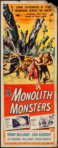 "Movie Posters:Science Fiction, The Monolith Monsters (Universal International, 1957). Insert (14""X 36""). Science Fiction.. ..."