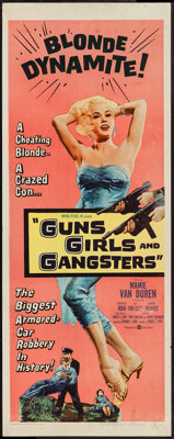 "Guns, Girls and Gangsters (United Artists, 1959). Insert (14"" X 36""). Crime"