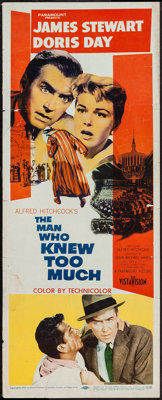 """The Man Who Knew Too Much (Paramount, 1956). Insert (14"""" X 36""""). Hitchcock"""