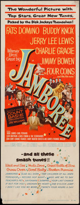 "Jamboree (Warner Brothers, 1957). Insert (14"" X 36""). Rock and Roll"