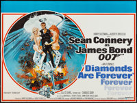"Diamonds are Forever (United Artists, 1971). British Quad (30"" X 40""). James Bond"