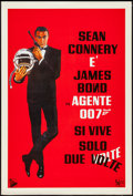 "Movie Posters:James Bond, You Only Live Twice (United Artists, R-1970s). Italian Foglio(26.5"" X 39.5""). James Bond.. ..."