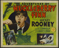"""Movie Posters:Comedy, The Adventures of Huckleberry Finn (MGM, 1939). Half Sheet (22"""" X 28""""). Family. Starring Mickey Rooney, Walter Connolly, Wil..."""