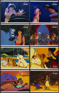 "Movie Posters:Animated, Aladdin (Buena Vista, 1992). Lobby Card Set of 8 (11"" X 14""). Animated Adventure. Starring Scott Weinger, Brad Kane, Robin W... (Total: 8 Items)"