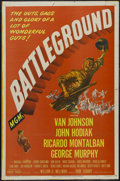 "Movie Posters:War, Battleground (MGM, 1949). One Sheet (27"" X 41""). War Drama.Starring Van Johnson, John Hodiak, Ricardo Montalban and George ..."