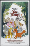 "Movie Posters:Animated, The Fox and the Hound (Buena Vista, 1981). One Sheet (27"" X 41""). Animated. Starring the voices of Mickey Rooney, Kurt Russe..."
