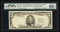 Error Notes:Missing Third Printing, Fr. 1976-J $5 1981 Federal Reserve Note. PMG Gem Uncirculated 65 EPQ.. ...