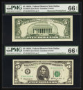 Error Notes:Obstruction Errors, Fr. 1968-K $5 1963A Federal Reserve Note. PMG Gem Uncirculated 66 EPQ.. ...