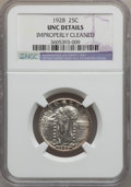 Standing Liberty Quarters: , 1928 25C -- Improperly Cleaned -- NGC Details. UNC. NGC Census:(0/455). PCGS Population (6/563). Mintage: 6,336,000. Numis...