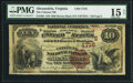 National Bank Notes:Virginia, Alexandria, VA - $10 1882 Brown Back Fr. 484 The Citizens NB Ch. #(S)1716. ...