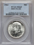 Kennedy Half Dollars, 1964 50C Double Die Obverse MS65 PCGS. FS-102. PCGS Population(1496/955). NGC Census: (1299/1510). Mintage: 273,300,000. ...