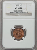 Indian Cents: , 1890 1C MS64 Red and Brown NGC. NGC Census: (371/152). PCGSPopulation (195/25). Mintage: 57,182,856. Numismedia Wsl. Price...