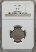 Liberty Nickels: , 1912-S 5C Good 6 NGC. NGC Census: (52/972). PCGS Population(108/1709). Mintage: 238,000. Numismedia Wsl. Price for problem...