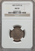 Liberty Nickels: , 1883 5C With Cents AU53 NGC. NGC Census: (4/841). PCGS Population(14/1116). Mintage: 16,032,983. Numismedia Wsl. Price for...