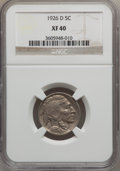 Buffalo Nickels: , 1926-D 5C XF40 NGC. NGC Census: (16/625). PCGS Population(20/1069). Mintage: 5,638,000. Numismedia Wsl. Price for problem...