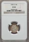Barber Dimes: , 1906-O 10C XF40 NGC. NGC Census: (2/119). PCGS Population (7/175).Mintage: 2,610,000. Numismedia Wsl. Price for problem fr...