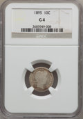 Barber Dimes: , 1895 10C Good 4 NGC. NGC Census: (7/137). PCGS Population (7/200).Mintage: 690,000. Numismedia Wsl. Price for problem free...