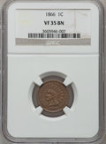 Indian Cents: , 1866 1C VF35 NGC. NGC Census: (23/860). PCGS Population (23/504).Mintage: 9,826,500. Numismedia Wsl. Price for problem fre...