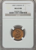 Indian Cents, 1909-S 1C MS63 Red and Brown NGC....