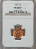 Indian Cents, 1889 1C MS65 Red NGC....