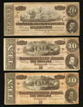 Confederate Notes:1864 Issues, T67 $20 1864;. T68 $10 1864 Two Examples.. ... (Total: 3 notes)