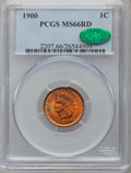 Indian Cents, 1900 1C MS66 Red PCGS. CAC....