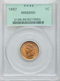Indian Cents, 1897 1C MS65 Red PCGS....
