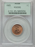 Indian Cents, 1885 1C MS65 Red PCGS....