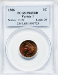 Proof Indian Cents, 1886 1C Type One PR65 Red PCGS....