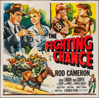 """The Fighting Chance and Others Lot (Republic, 1955). Six Sheet (80"""" X 81"""") and One Sheets (2) (27"""" X 41&q..."""