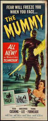 "The Mummy (Universal International, 1959). Insert (14"" X 36""). Horror"