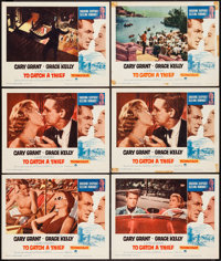 """To Catch a Thief & Other Lot (Paramount, R-1963). Lobby Cards (6) (11"""" X 14"""") & Window Card (1..."""