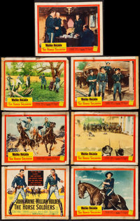 The Horse Soldiers and Other Lot (United Artists, 1959). Title Lobby Card and Lobby Cards (6), and Lobby Card Set of Eig...