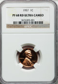Proof Lincoln Cents, 1957 1C PR68 Red Ultra Cameo NGC....