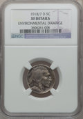 Buffalo Nickels, 1918/7-D 5C -- Environmental Damage -- NGC Details. XF. FS-101....