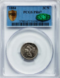Proof Three Cent Nickels, 1884 3CN PR67 PCGS Secure. CAC....