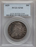 Bust Half Dollars: , 1829 50C Small Letters XF40 PCGS. PCGS Population (157/1055). NGCCensus: (68/946). Mintage: 3,712,156. Numismedia Wsl. Pri...