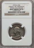 Errors, 1970-D 25C Washington Quarter Struck 10C Thickness Stock AU55 NGC.4.34 Grams. NGC Census: (3/733). PCGS Population (7/923)...