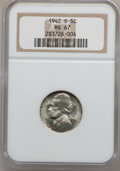 Jefferson Nickels: , 1942-S 5C MS67 NGC. NGC Census: (1285/4). PCGS Population (66/0).Mintage: 32,900,000. Numismedia Wsl. Price for problem fr...