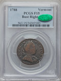Colonials: , 1788 COPPER Vermont Copper, Bust Right Fine 15 PCGS. CAC. PCGSPopulation (30/107). NGC Census: (7/26). ...